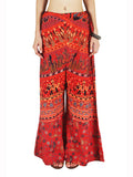 Block Print Jaipuri Palazzo Pants In Orange - PJRTPP2MH6