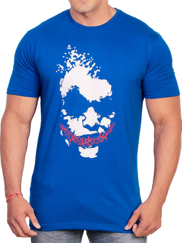 Cotton T Shirt From Delhi In Royal Blue - PT-PDT29AG7