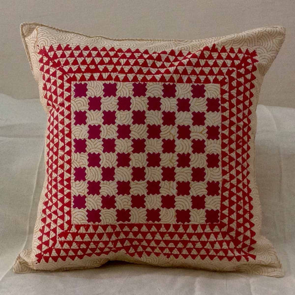 Set of 5 Block Printed Cotton Cushion Cover From Jaipur In MultiColour  - SM-CDDC4MR9