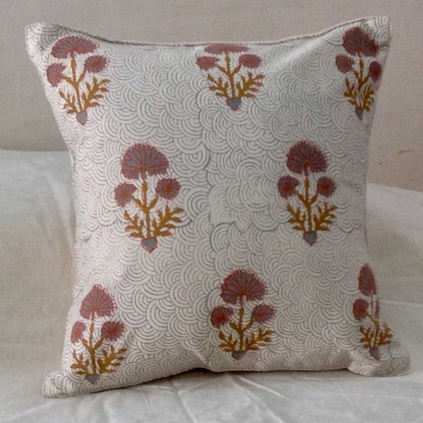 Set of 5 Block Printed Cotton Cushion Cover From Jaipur In MultiColour  - SM-CDDC4MR6