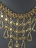 Beautiful Moradabad Necklace In Golden - CHUJN10FBY3-24