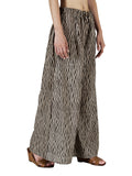 Dabu Printed Palazzo Pants From Jodhpur In Black & Beige - MR-PJ0RTPP10JN13