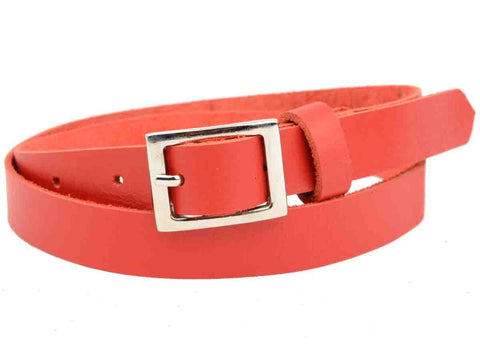 Carmine Red Kanpur Leather Belt-CKUB11