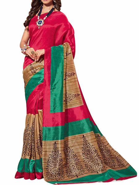 Cotton Silk Red Color Saree With Cotton Silk Red Blouse - PWBSAI28JL94