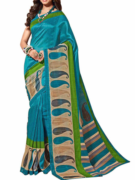 Cotton Silk Blue Color Saree With Cotton Silk Blue Blouse - PWBSAI28JL95