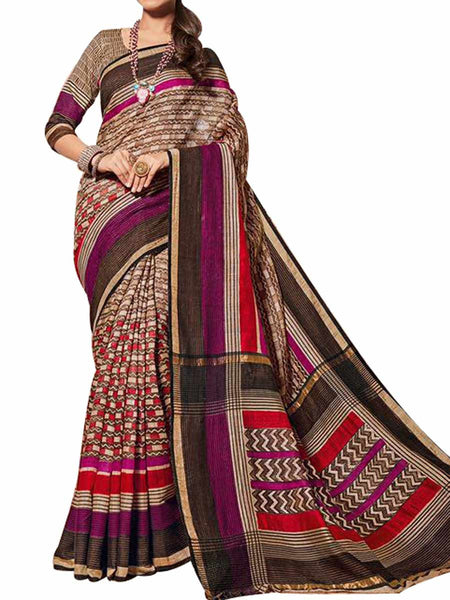 Cotton Silk Multi Color Saree With Cotton Silk Multi Blouse - PWBSAI28JL99