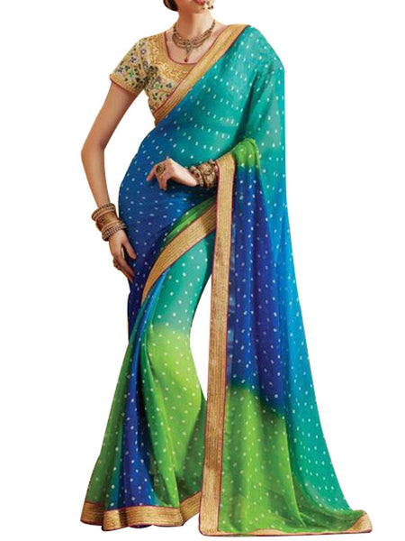 Saree From West Bengal In Multicolour - PWBSAI19JN19