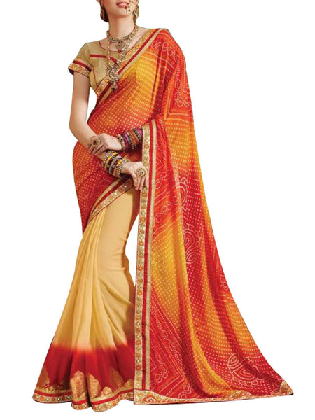 Saree From West Bengal In Brown - PWBSAI19JN58