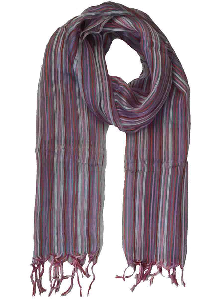 Bhagalpuri Silk Stole In Multi Shades-CBBS4