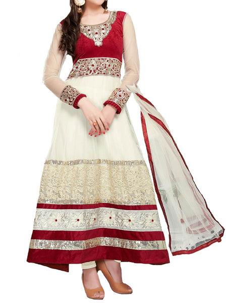Fashionable cream color full length anarkali suit - ST-PKAS9JY12