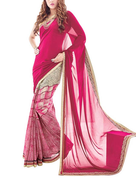 Saree From West Bengal In Purple - PWBSAI19JN75