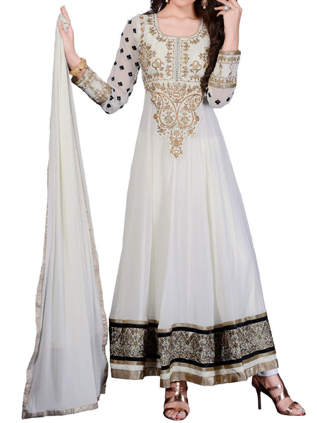 White Color Anarkali Suit - ST-PKAS9JY22