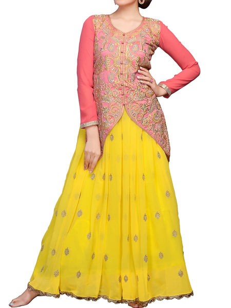 Yellow Color Long Gown - ST-PKAS9JY23