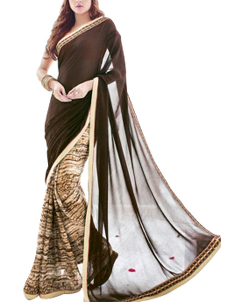 Saree From West Bengal In Black   - PWBSAI19JN81