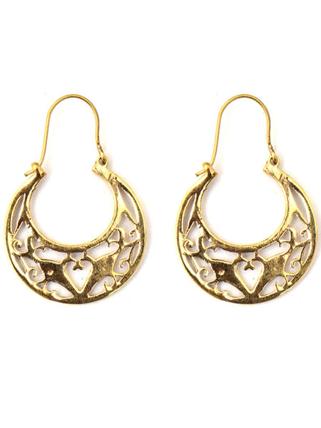 Earrings From Moradabad In Golden - CHUJE28SP18