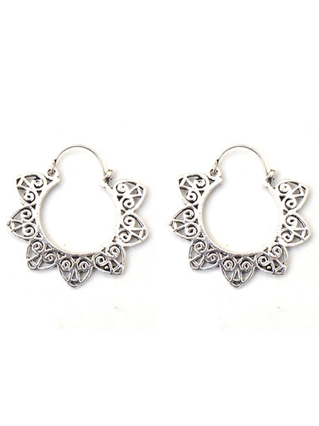 Earrings From Moradabad In Silver - CHUJE28SP21