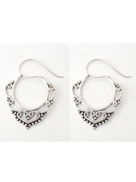 Earrings From Moradabad In Silver - CHUJE28SP23