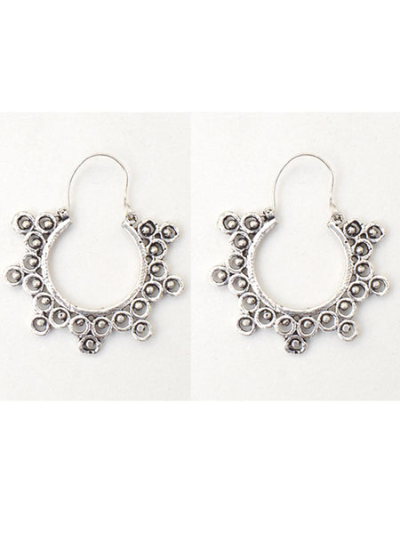 Earrings From Moradabad In SIlver - CHUJE28SP25