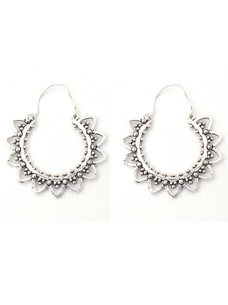 Earrings From Moradabad In SIlver - CHUJE28SP27