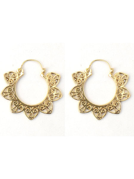 Earrings From Moradabad In Golden - CHUJE28SP28