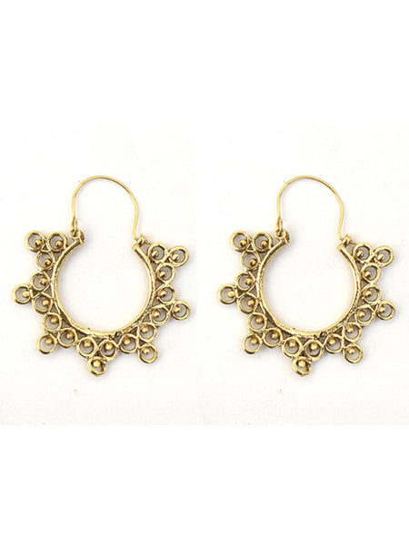 Earrings From Moradabad In Golden - CHUJE28SP9