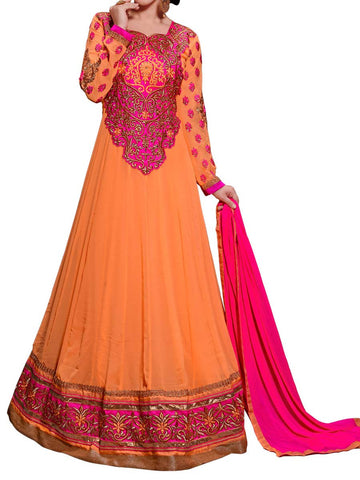 Alluring Orange Color Anarkali Suit - ST-PKAS9JY26