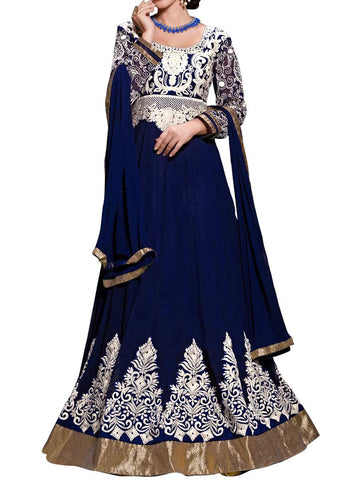 Aesthetic Blue Color  Anarkali Suit - ST-PKAS9JY27