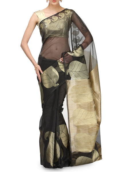 Banarasi Saree In Supernet Black - RB-BPBUSA11JL10