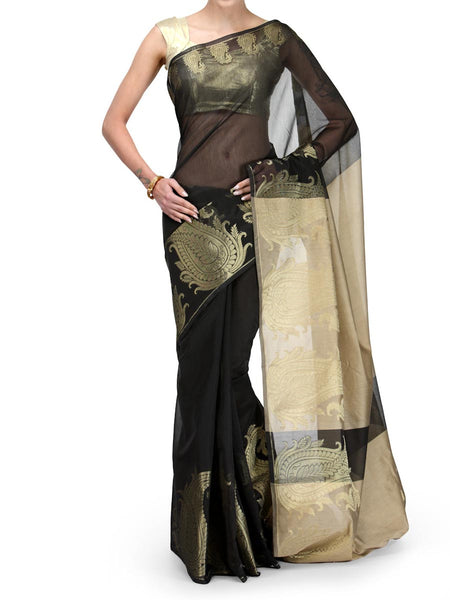 Banarasi Saree In Supernet Black - RB-BPBUSA25FB3