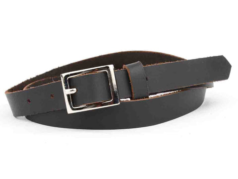 Black Kanpur Leather Belt-CKUB6