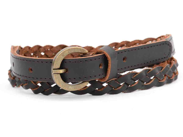 Dark Brown Kanpur Women Leather Belt-CKUB8