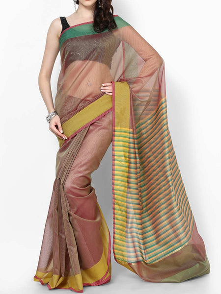 Banarasi Saree In Supernet Mehandi Green - RB-BPBUSA11JL132
