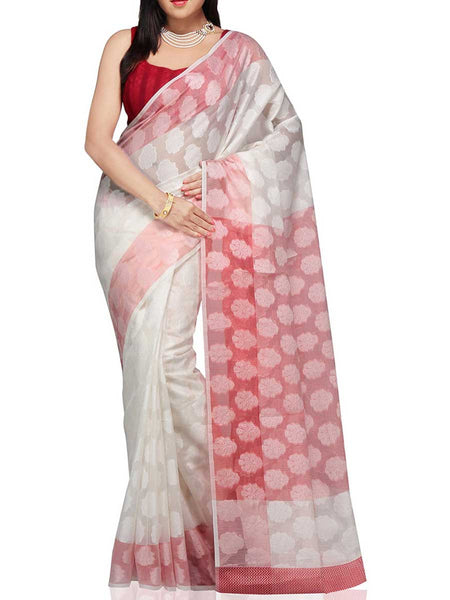 Banarasi Saree In White - RB-BPBUSA11JL329