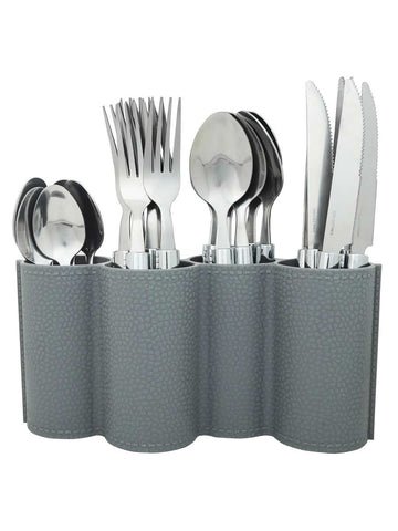 25-Piece Stainless Steel Cutlery Set For Dining Table - CWHDK11AG14