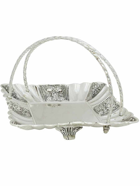Royal Serving Tray In Silver With Carrying Wires - CWHDK11AG20