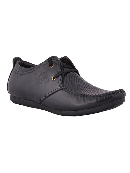 Men's Synthetic Leather Formal Lace Up From Kanpur In Black - MCKMS18APL1