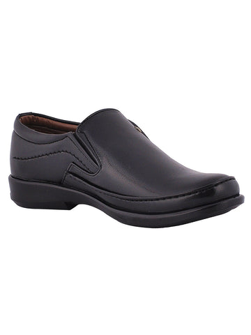 Men's Leather Formal Slip On From Kanpur In Black - MCKMS18APL5