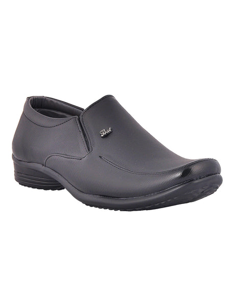 Men's Synthetic Leather Formal Slip On From Kanpur In Black - MCKMS18APL7