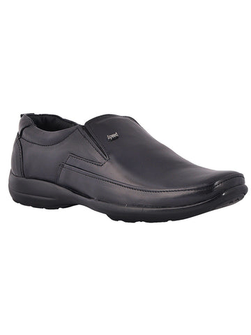 Men's Leather Formal Slip On From Kanpur In Black - MCKMS18APL8