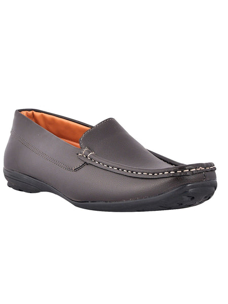Men's Synthetic Leather Casual Loafers From Kanpur In Brown - MCKMS18APL16
