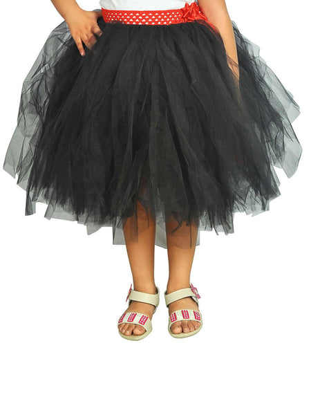 Black Knee Length Skirt Ocassion Tutu Dress - ASWI9JN5