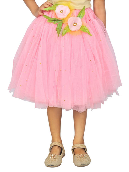 Pink Skirt Knee Length Holidaywear Tutu Dress - ASWI9JN6