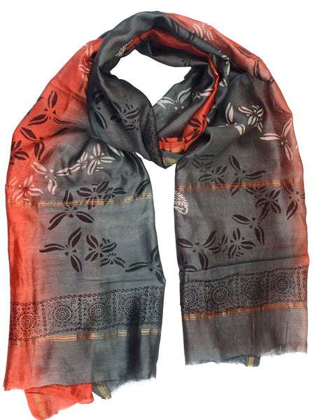 Chanderi Dupatta From Madhya Pradesh In MultiColour - ACMD10MH6