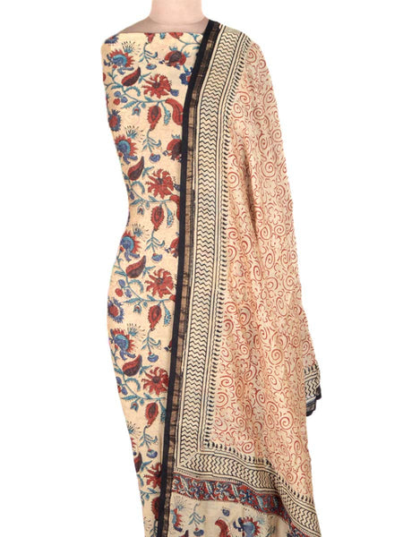 Chanderi Suit From Madhya Pradesh In Beige - ACMPS31AG17