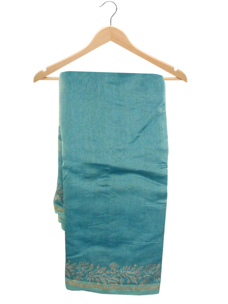 Chanderi Saree From Madhya Pradesh In Steel Blue - ACMPSA10MH10