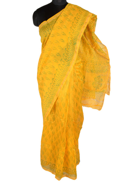 Chanderi Saree From Madhya Pradesh In Yellow - ACMPSA31MA11