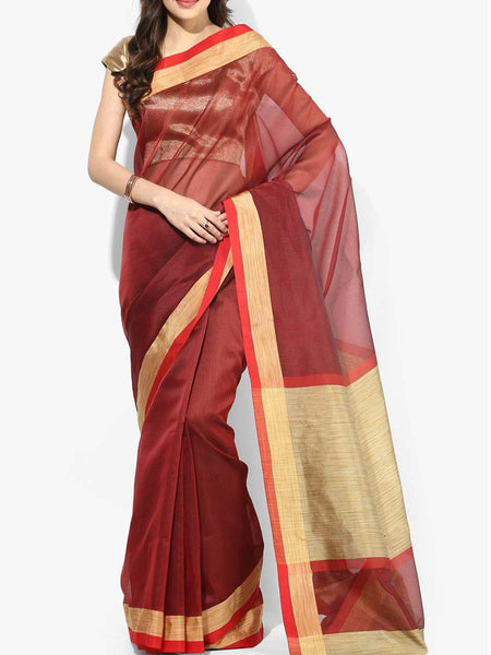 Banarasi Saree In Maroon - RB-BPBUSA11JL400