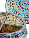 Meenakari Dry Fruit Container-EC-HJRWME1SP19