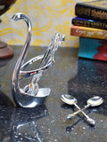 Metal Swan Spoon Holder-EC-HJRWME1SP24