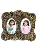 Metal Antique Finish Round Photo Frame For Two Photos-EC-HJRWME1SP30